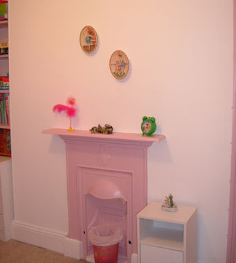 Pink room from our decorators London