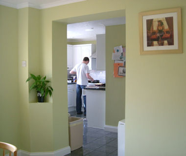 Elegant green and white from our painters and decorators